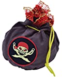 PIRATE TREASURE POUCH - BUCCANEER GOLD COIN DRAWSTRING BAG