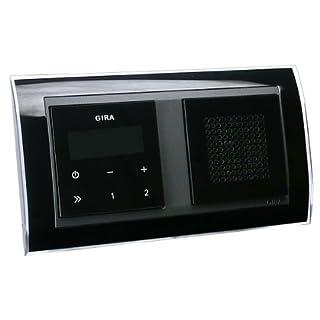 Gira Unterputz-Radio RDS mit Lautsprecher und Rahmen Event schwarz-klar - schwarz / schwarz