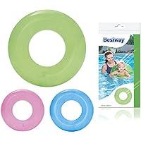Bestway 36022 flotador para bebé Vinilo Azul, Verde, Rosa - Flotadores para bebé (