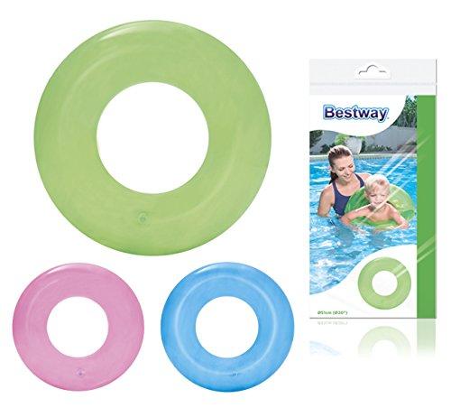 Bestway Schwimmring, Transparent, 3-6 Jahre, 51 cm, sortiert