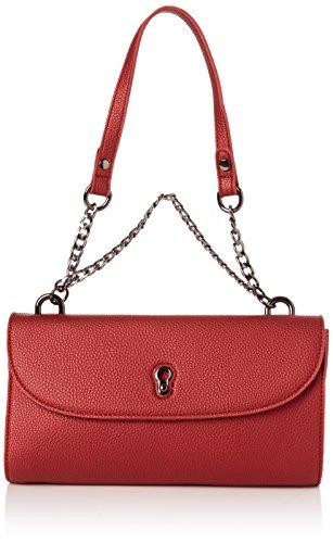 ESPRIT Damen 117ea1o050 Clutch, Rot (Coral Red), 6x14x27 cm (Leder Bag Clutch)