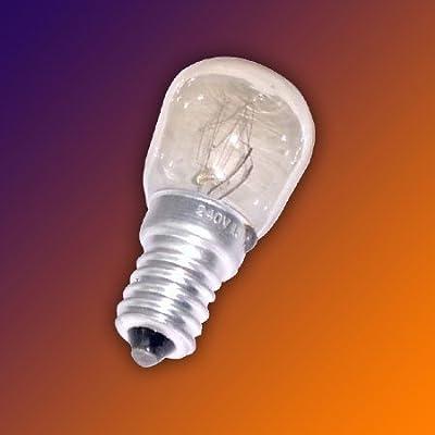 2 Stück Glühbirne E14 - 15 Watt für Salzlampe und Kühlschrank U2282
