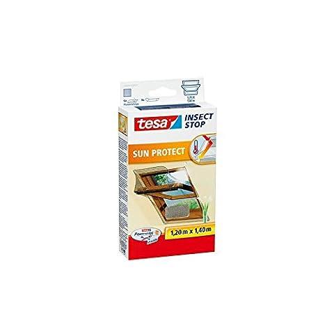 tesa Fliegengitter für Dachfenster, mit Sonnenschutz, anthrazit/metallic 1,2m:1,4m