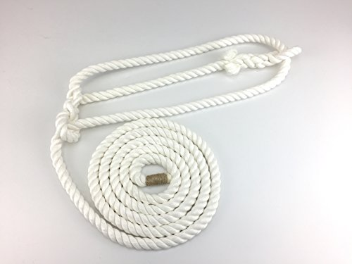 RopeServices UK 12Mm Natural Cotton Cattle Show Halters (Optic White) 1