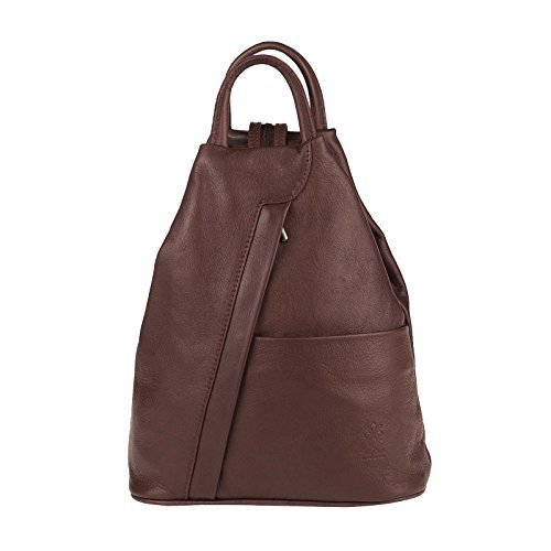 31b4cc76e6b2f OBC Made in Italy Damen echt Leder Rucksack Lederrucksack Tasche  Schultertasche Ledertasche Daypack Backpack Handtasche Nappaleder