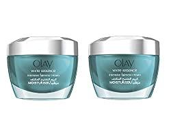 Olay White Radiance Advanced Whitening Intensive Fairness Cream, Moisturizer, 1.7 Oz (Pack of 2) + Beyond BodiHeat Patch, 1 Ct