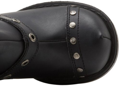 Demonia Sinister-201 Stivali A Maniche Corte Donna Nero (blk Vegan Leather)
