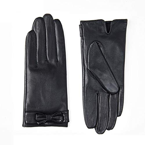 ZXC Winter Ladies Gloves Cortex Touchscreen Thicken Keep Warm Be Applicable Cycling,Driving,Black