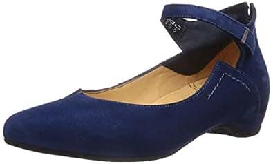 Think  IMMA, Ballerines pour femme - Bleu - Blau (CAPRI/KOMBI 84), 42.5 EU