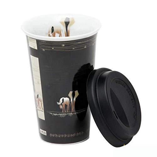 Vaso Térmico De Elefantes Con Tapa De Silicona.
