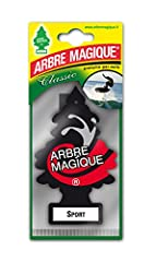 Idea Regalo - TAVOLA Arbre Magique Mono, Deodorante Auto, Fragranza Sport, Profumazione Prolungata fino a 7 Settimane