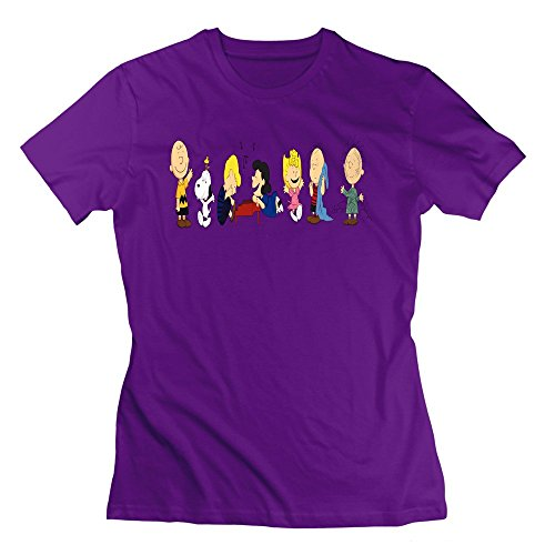 Nana-Custom Tees Damen T-Shirt Gr. xl, Schwarz - Violett Vintage Le Creuset