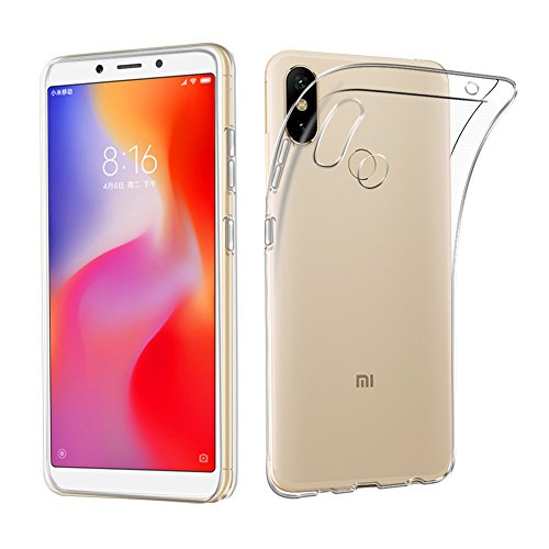 AVIDET Xiaomi Mi Max 3 caso, borracha TPU Silicone capa protetora ultra fino leve anti-risco capa Case para Xiaomi Mi Max 3 (transparente)