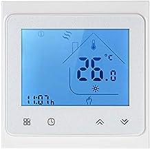 Decdeal Termostato de Calefacción de Gas,con Pantalla Táctil LCD,Controlador de Temperatura Programable