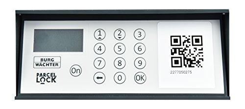 BURG-WÄCHTER Paketbox vor dem Haus für den Empfang und Versand von Paketen Zuhause, Elektronisches Öffnungs- und Schließsystem, eBoxx mit ParcelLock-System, GV 644, Silber - 6