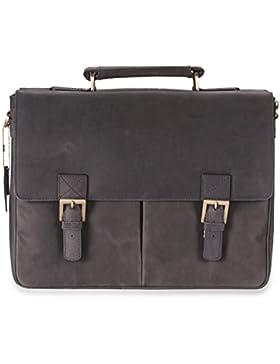 Visconti Hunter - Messenger Bag - A4 Laptop-Tasche - Arbeitstasche - geöltes Antik-Leder - Hellbraun - # 18716