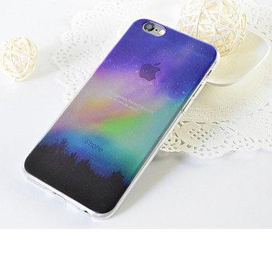 Casse del telefono mobile & Cover, Per Traslucido Custodia Custodia posteriore Custodia Paesaggi Morbido TPU per AppleiPhone 7 Plus / iPhone 7 / iPhone 6s Plus/6 Plus / ( Modello compatibile : IPhone  IPhone SE/5s/5