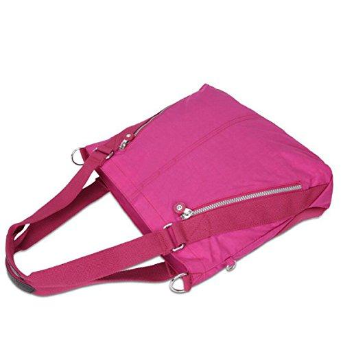 Borse Diagonali Nella Spalla Portatile Impermeabile Borsa Di Tela Nylon Casuale Moda Pink1