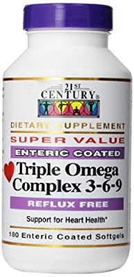 Triple Omega Complex 3-6-9 - 21st Century Health Care - UK Seller from 21st Century