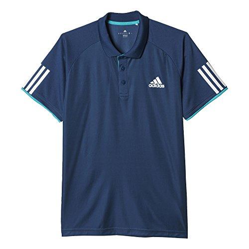 adidas Oberbekleidung Club Polo Poloshirt Mineral Blue S16/White/Shock Green S16 M