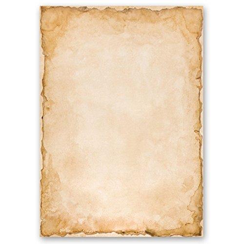Carta da lettera decorati vintage 50 fogli din a4