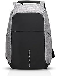 f4e88516a4 FANDARE Antifurto Zaino della Scuola Notebook Portatile Laptop 15.6 Pollici  Schoolbag Viaggio Borsa USB Port Polyester