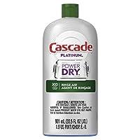 Cascade Rinse Aid Platinum, Dishwasher Rinse Agent, Regular Scent