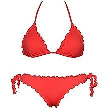 Bikini Triangolino Frou Frou con Slip o Brasiliana | Made in Italy | Bikinicolors