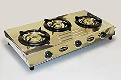 AKSHAT Perfect M Stainless Steel Gas Stove 3 burner