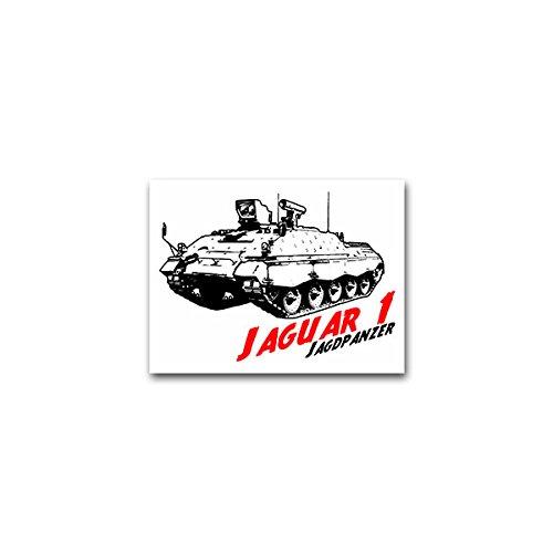 Copytec Aufkleber/Sticker -Jaguar 1 Jagdpanzer Bundeswehr Bundesheer Raketenwerfer Heer Deutschland Panzer Einheit Militär PzFz Panzerfahrzeug Kettenfahrzeug 9x7cm #A2184