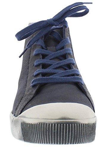 Sneaker Alta Softinos Kip405sof In Pelle Lavata Hw17 Grau