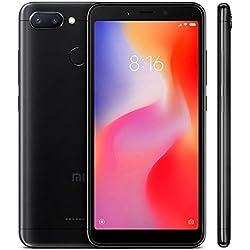 """Xiaomi Redmi 6 - Smartphone de 5.45"""" (Octa-Core 2.0 GHz Cortex-A53, RAM de 3 GB, Memoria de 32 GB, cámara de 12 MP, Android) Color Negro [Versión española]"""