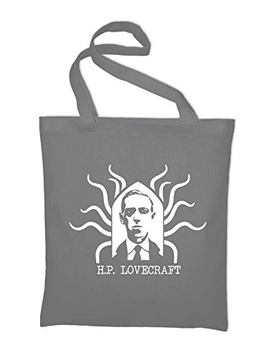 Hp Lovecraft Potrait Fan Jutebeutel Grigio Chiaro