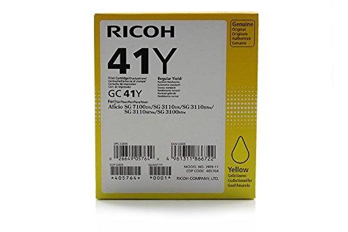 Preisvergleich Produktbild Original Tinte passend für NRG SG 3110 DN Ricoh GC-41 , GC41Y 405764 - Premium - Gelb - 2.200 Seiten