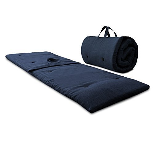 midnight-blue-roly-poly-futon-sleeping-mattress-roll-up-zip-up-guest-bed