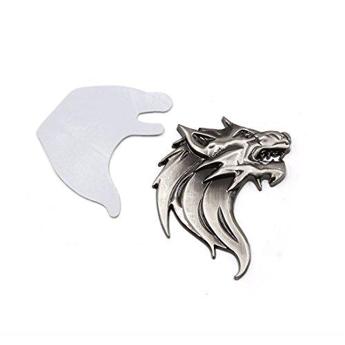 Sourcingmap® Titan Ton Metall 3D Wolf Kopf Design Selbstklebende Aufkleber für Auto DE de