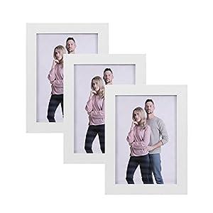 SONGMICS Bilderrahmen 13 x 18 cm, Bilderrahmen Collage, Fotorahmen mit Glasscheibe, MDF Rahmenbreite 2cm