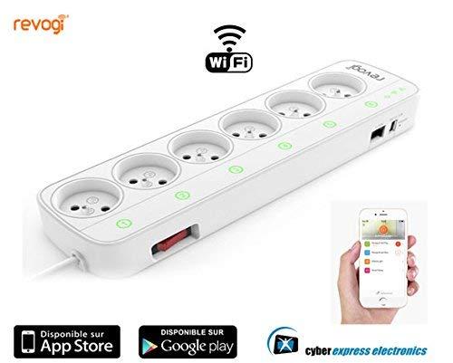 Smart Blocco multipresa intelligente collegamento Wi-Fi Interruttore contatore comandato a distanza per Smartphone Android o IOS domotica sh-sow323fr