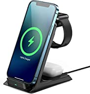 AGPTEK 15W Fast Wireless Charger Qi Wireless Charging Pad 7.5W Charging for iPhone 12/11/XR/XS/8 Plus,AirPods