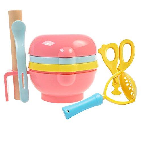 HTTMYY Baby Food Babynahrung SchüSsel Mahlwerk Manual Gesunde MüHlen Mutter Helper Feeder Cutting Maker , colorful