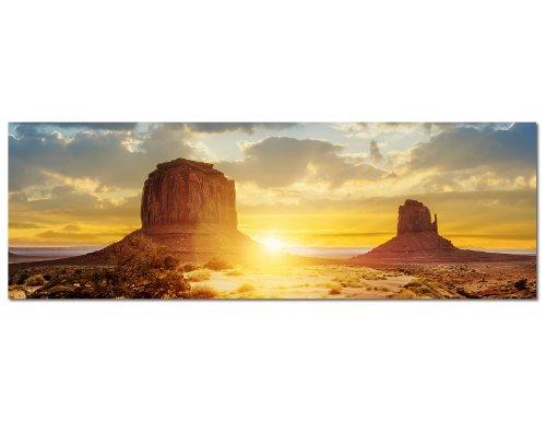 panoramabild-auf-leinwand-und-keilrahmen-120x40cm-usa-monument-valley-sonnenuntergang-natur