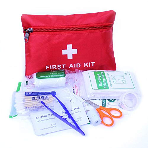 Ogquaton Botiquín Primeros Auxilios de 12 Artículos Kit Supervivencia Médica Aire Libre de Primeros Auxilios para Deportes, Supervivencia, Emergencias, Viajes, Rojo