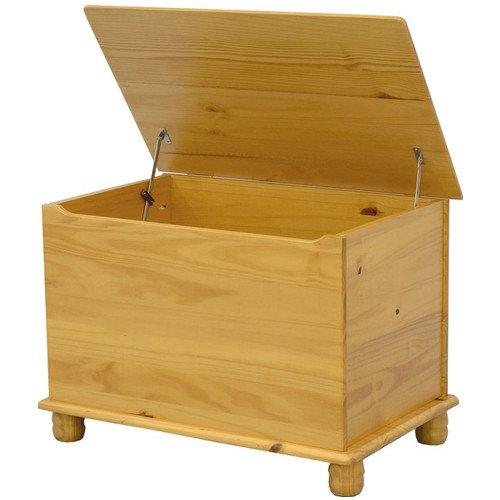 SOL Decke/Toy Box–Kiefer Antik (Kiefer Decke-boxen)
