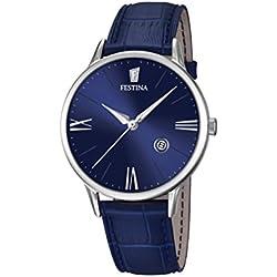 Festina F16824/3 - Reloj de pulsera hombre, Cuero, color Azul