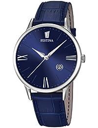 Festina - F16824-3 - Montre Homme - Quartz Analogique - Cadran Bleu - Bracelet Cuir Bleu