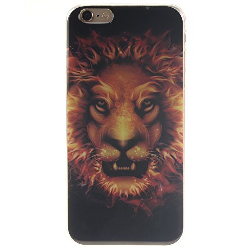 Pour Apple iPhone 5G 5S SE Coque,Ecoway Housse étui en TPU Silicone Shell Housse Coque étui Case Cover Cuir Etui Housse de Protection Coque Étui Apple iPhone 5G 5S SE –TX8 panda TX8 feu Lion