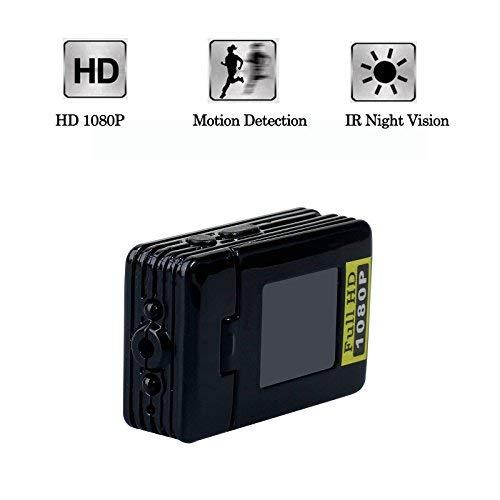 Jiusion 1080P Spy Versteckte Kamera DV, Portable Audio Video Recorder Cam mit IR-Nachtsicht, Bewegung Aktiviert, Webcam