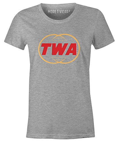 Trans World Airlines TWA - Damen Retro Airliner Logo T-Shirt (Fluggesellschaften, T-shirt Weißes)