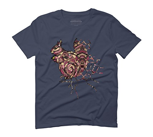 ABSTRACT SQUIRREL Men's Graphic T-Shirt - Design By Humans Navy