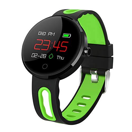 WATCH GYQ Bluetooth Smartwatch Wasserdicht mit Herz Pulsmesser SMS Anruf-Mitteilung,Black4